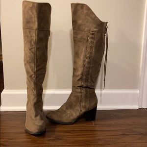 American Rag Suede over the knee boots!